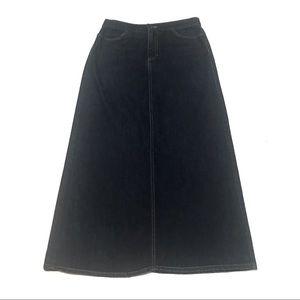 Vintage GAP Long Denim Skirt with Pockets